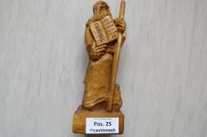 Cav. Geschnitzte Holzfigur